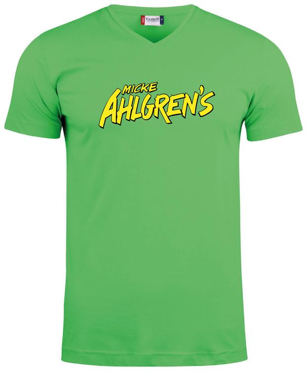 """Grön V-hals T-shirt """"Micke Ahlgrens"""""""