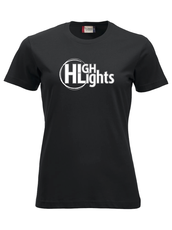 """Svart Dam T-shirt """"""""HIGHLIGHTS"""""""""""