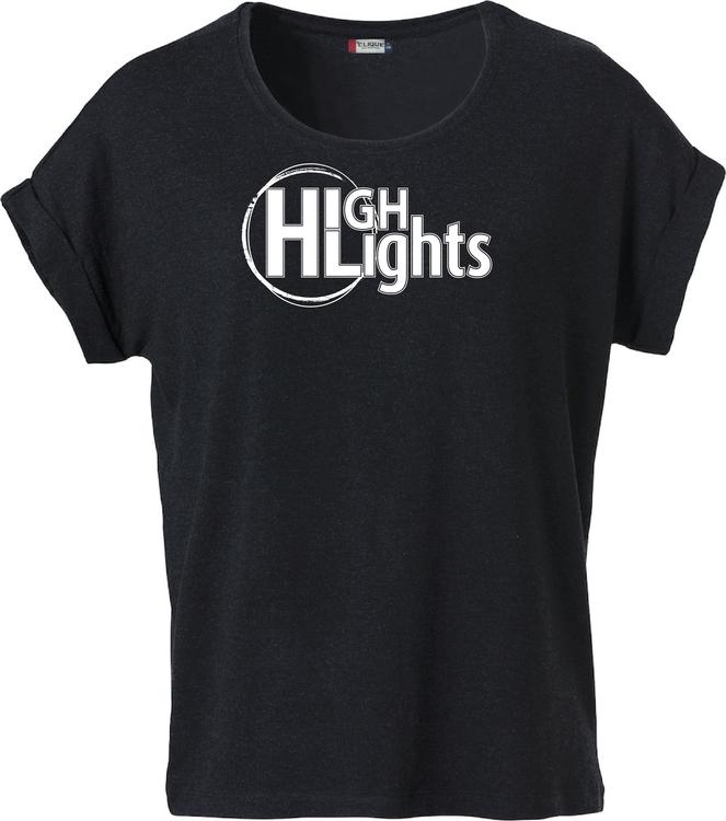 """Svart Dam T-shirt Katy """"""""HIGHLIGHTS"""""""""""