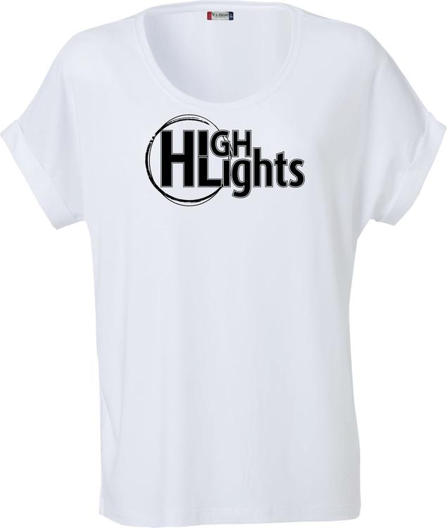 """Vit Dam T-shirt Katy """"""""HIGHLIGHTS"""""""""""