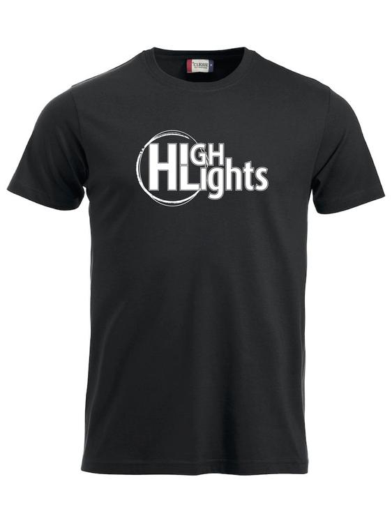 """Svart T-shirt """"""""HIGHLIGHTS"""""""""""