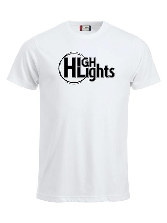 "Vit T-shirt """"HIGHLIGHTS"""""