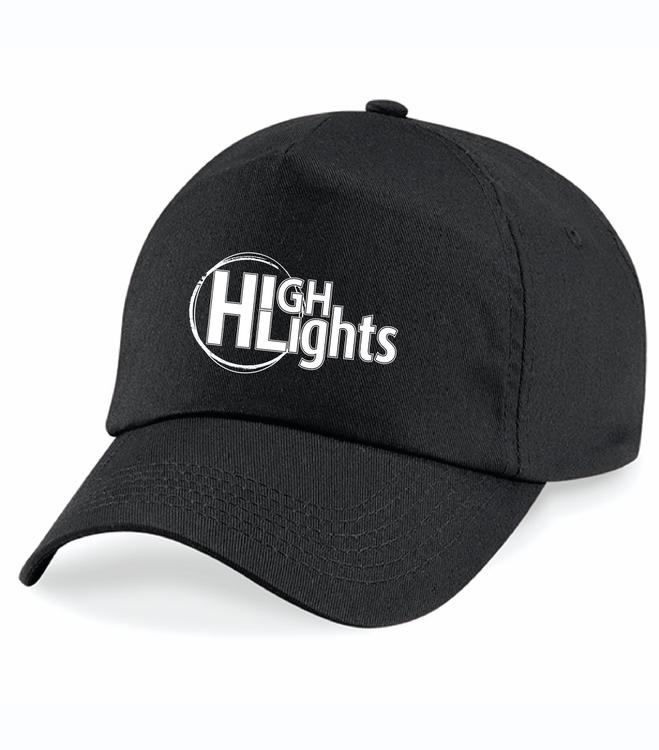"""Svart Keps """"HIGHLIGHTS Logo"""""""