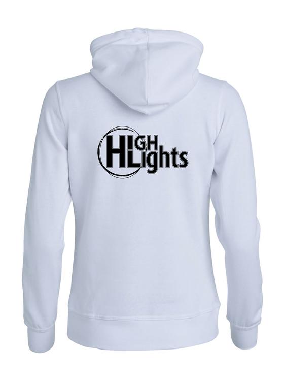 """Vit Dam HOODJACKA """"HIGHLIGHTS"""" rygg"""