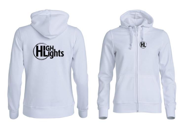 """Vit Dam HOODJACKA v.bröst & rygg """"HIGHLIGHTS"""""""