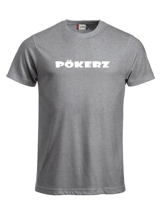 """Grå T-shirt """"PÖKERZ"""""""