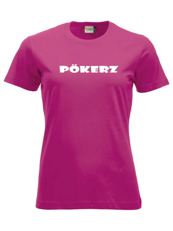 """Cerise Dam T-shirt """"PÖKERZ"""""""
