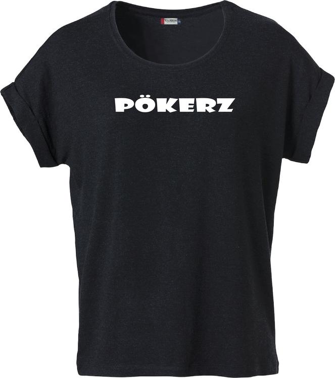 """Svart Dam T-shirt Katy """"PÖKERZ"""""""