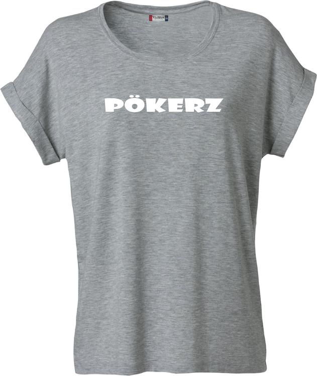 """Grå Dam T-shirt Katy """"PÖKERZ"""""""