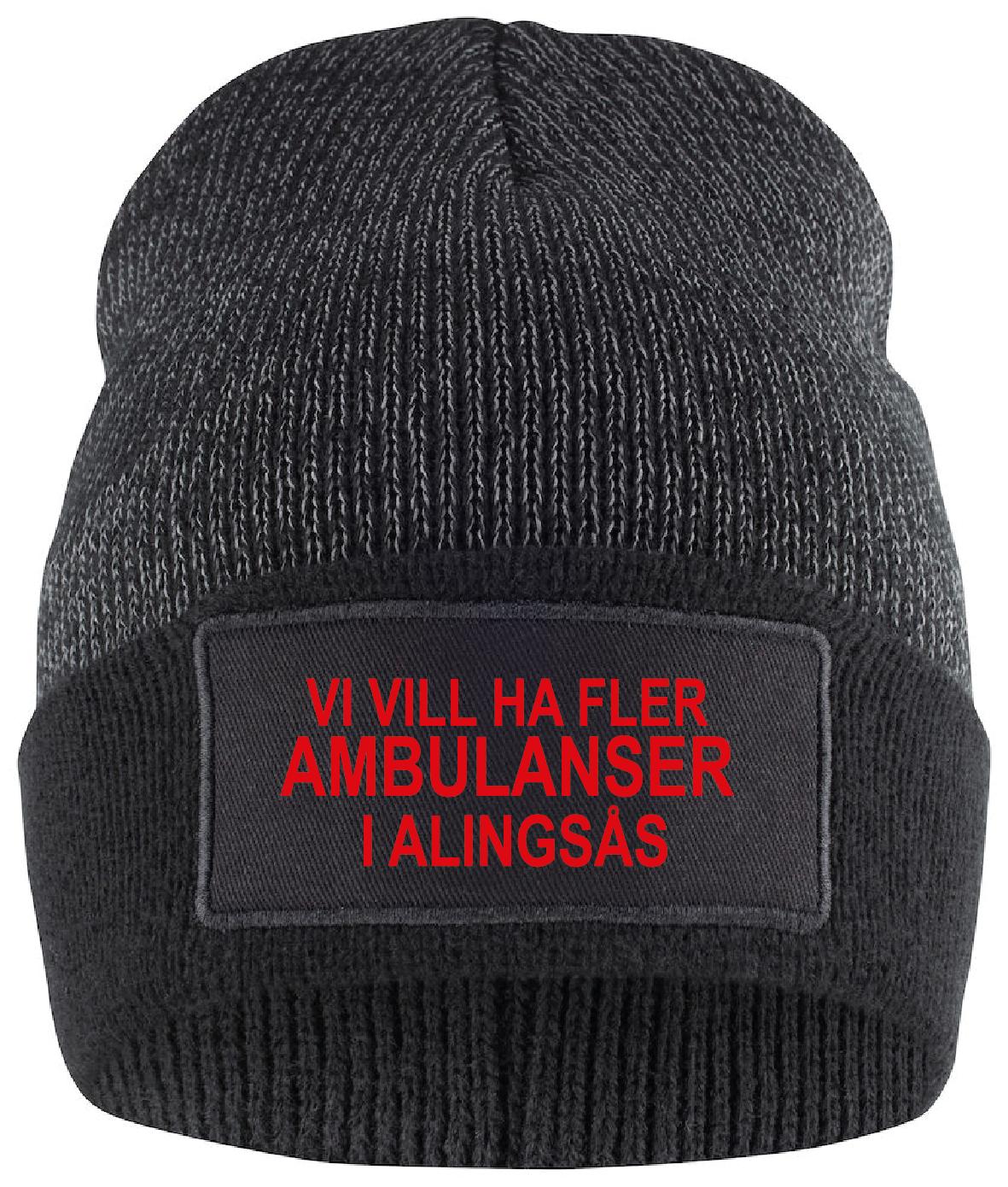 """Reflexmössa """"Fler AMBULANSER i Alingsås"""""""