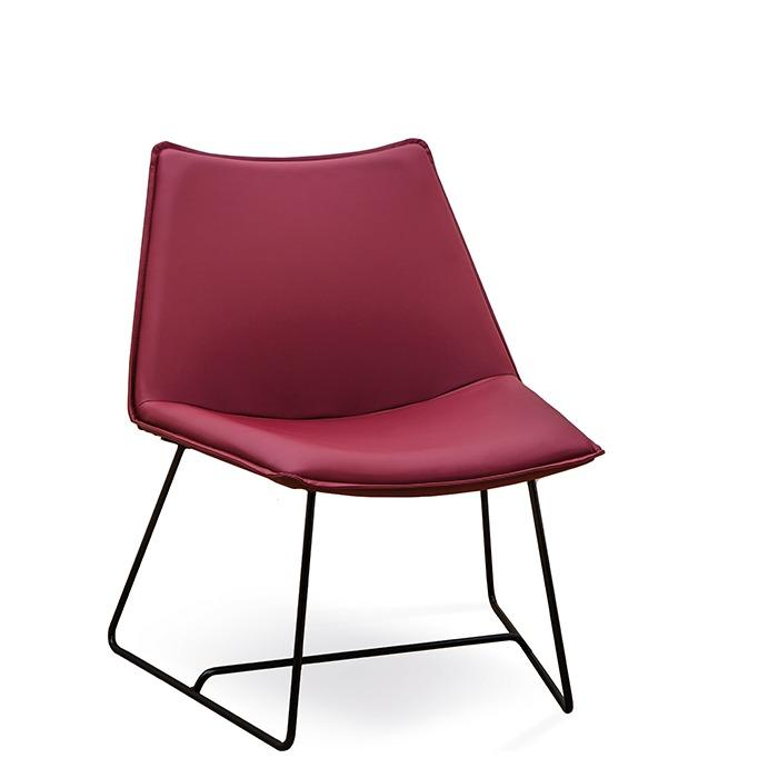 I-chair fåtölj medstativ
