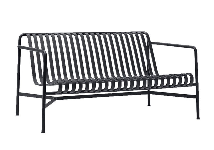 Palissade lounge sofa HAY anthracite