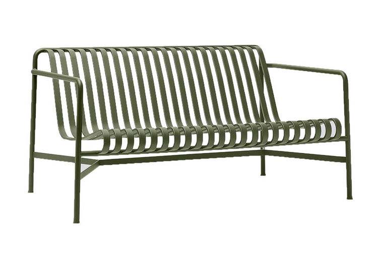 Palissade lounge sofa HAY olive green