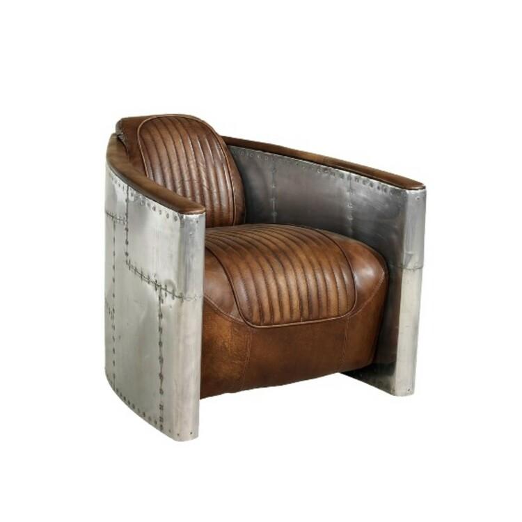 Artwood Tomcat Aviator vintage leather fåtölj