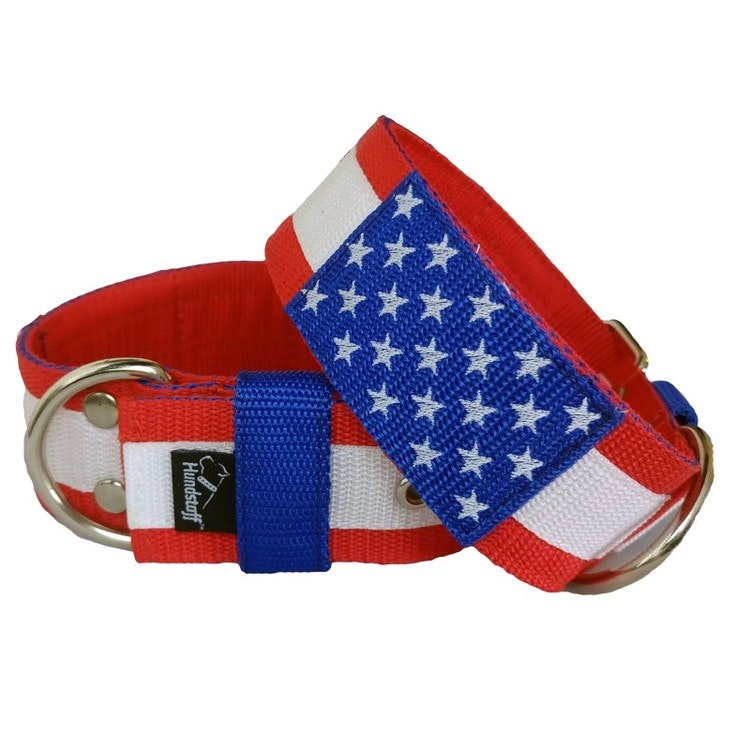 Stars and Stripes Amerikanskt Hundhalsband