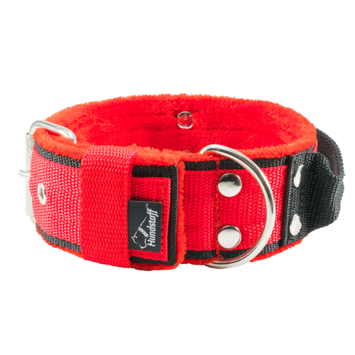 Grip Red - wide red dog collar with handle