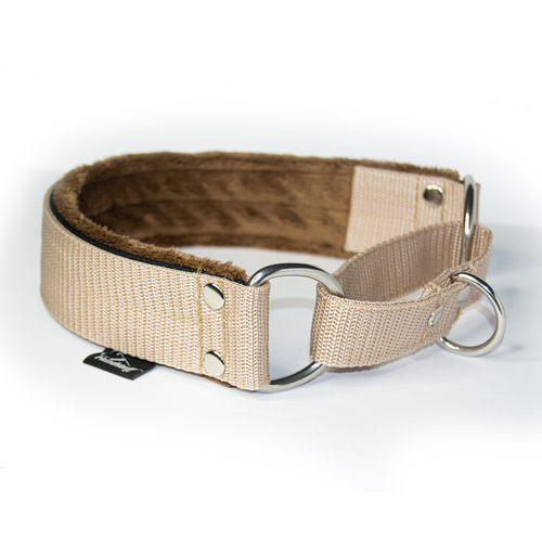 Beige martingale - half choke without chain