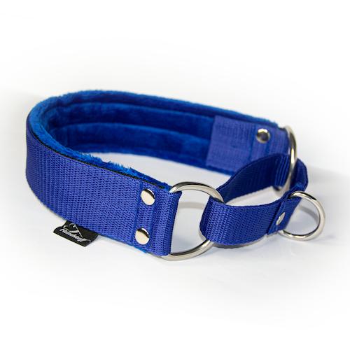 Blue martingale - blått halvstryp utan kedja
