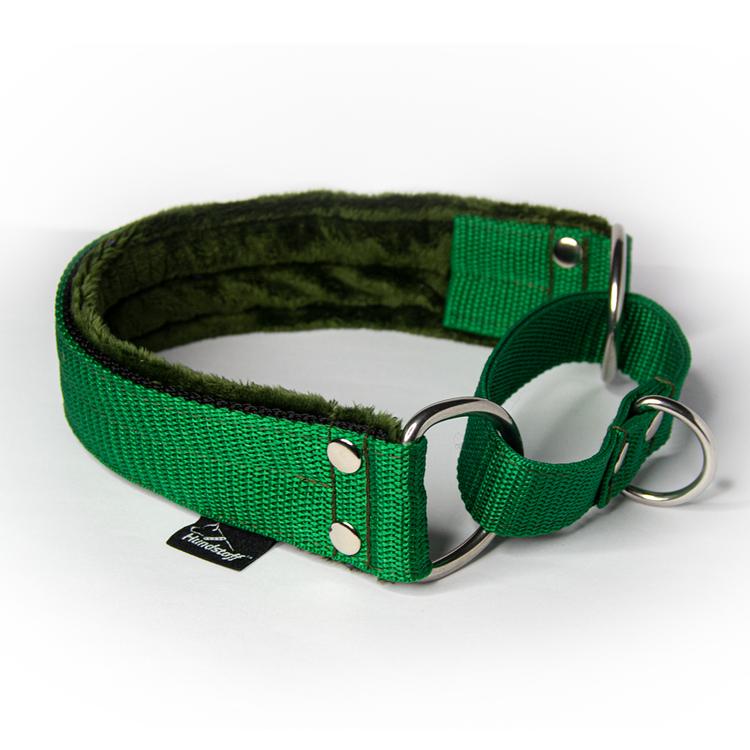 Green martingale - grönt halvstryp utan kedja