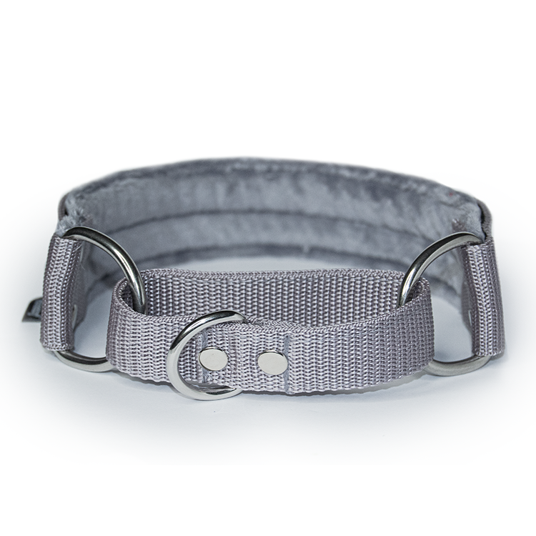 Gray martingale - grey half choke without chain