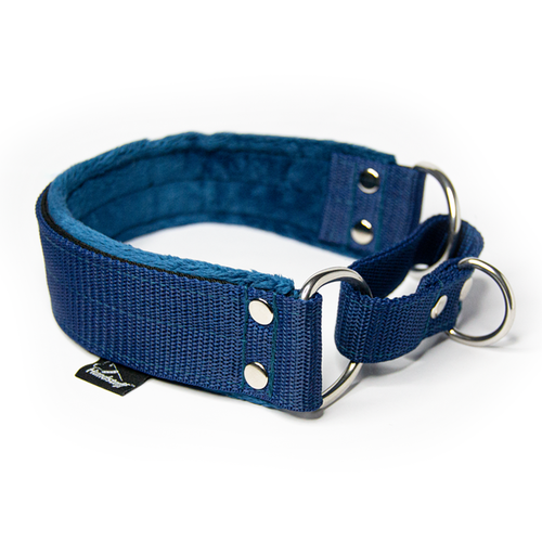 Navy Blue martingale - half choke without chain