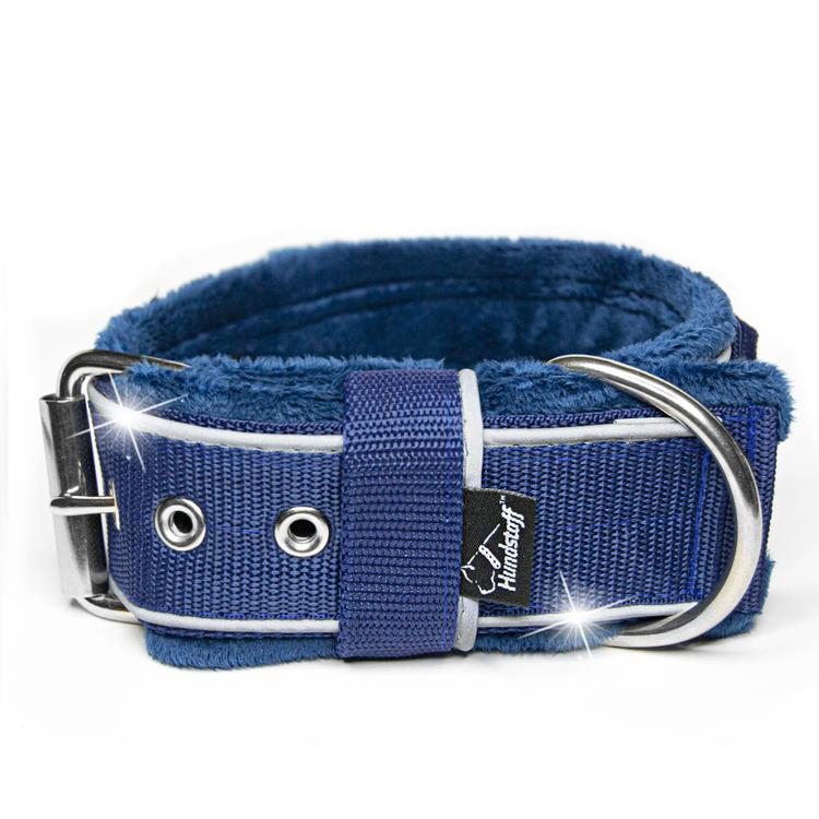 Grip Reflex Navy Blue - Mörk Blått halsband med reflex