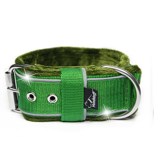Grip Reflex Green - Grönt halsband med reflex