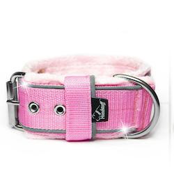 Grip Reflex Baby Pink - Ljus rosa halsband med reflex