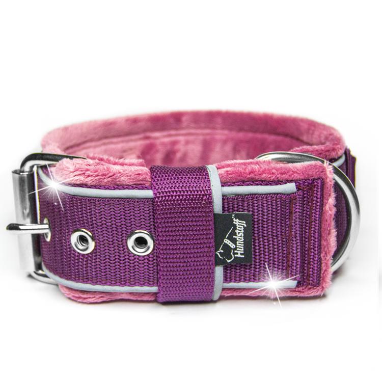 Grip Reflex Plum - Plommonfärgat halsband med reflex