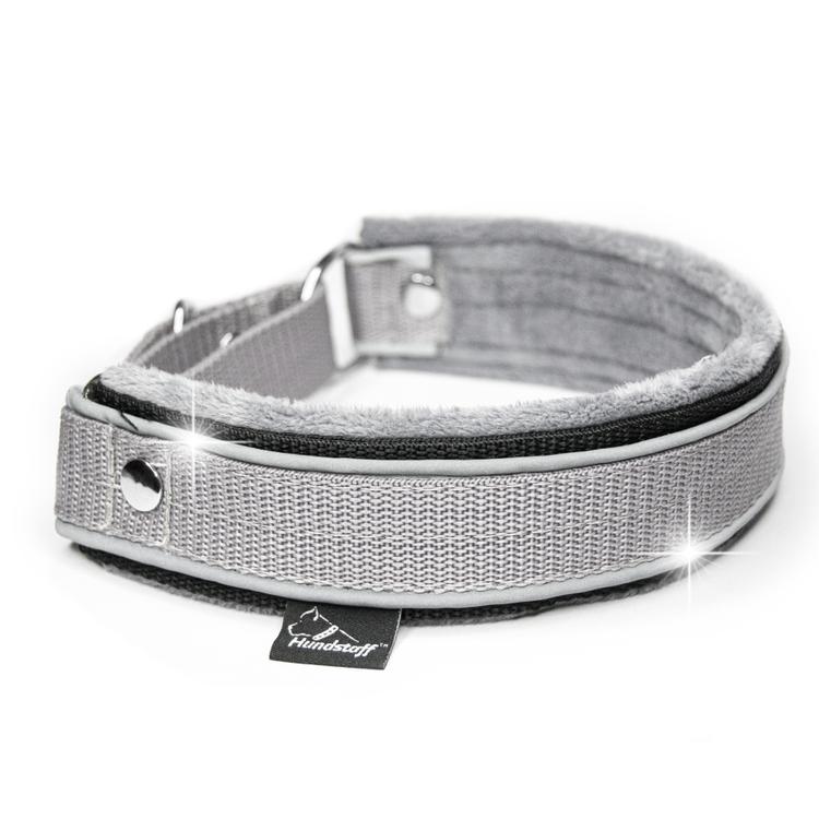 Martingale Reflex Grey - grått halvstryp med reflex