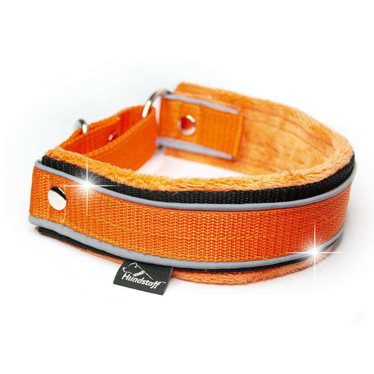 Martingale Reflex Orange - orange halvstryp med reflex