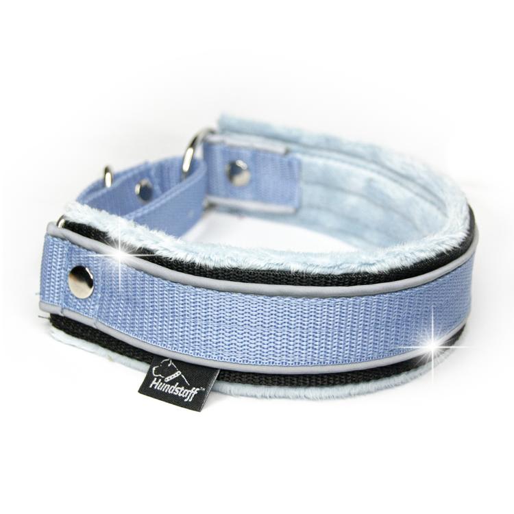 Martingale Reflex Baby Blue- ljus blå halvstryp med reflex