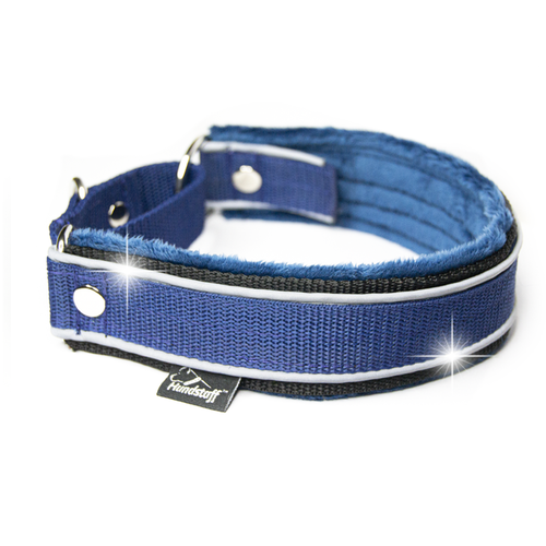 Martingale Reflex Navy Blue- dark blue half-choke with reflex