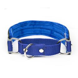 Martingale Reflex Blue - blå halvstryp med reflex