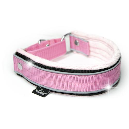 Martingale Reflex Baby Pink  - ljus rosa halvstryp med reflex