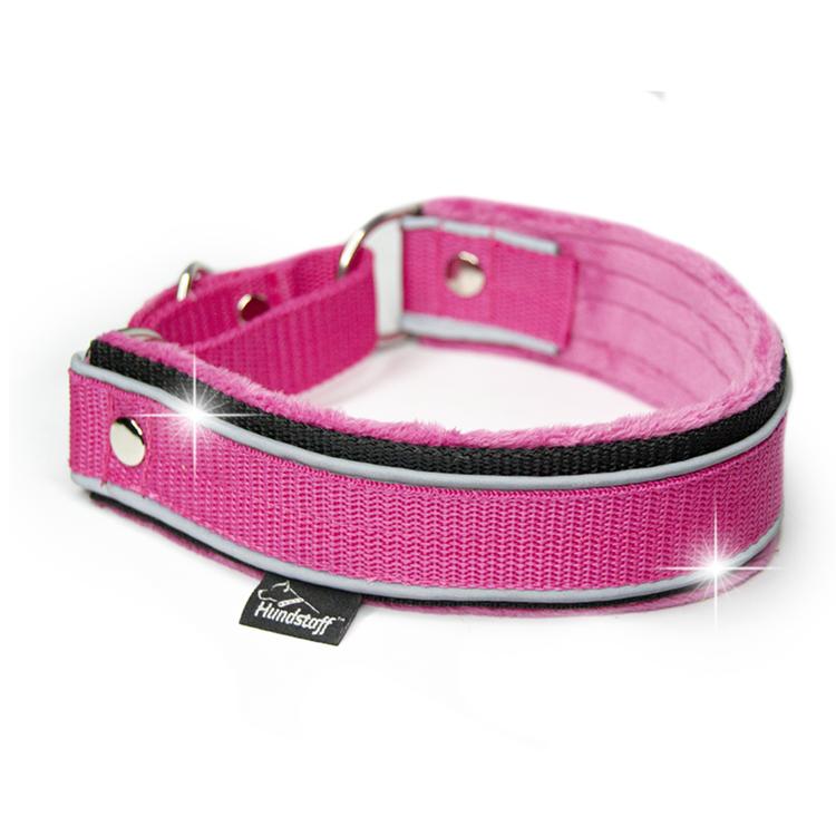 Martingale Reflex Pink - rosa halvstryp med reflex