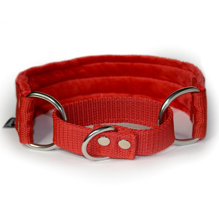Red martingale - rött halvstryp utan kedja