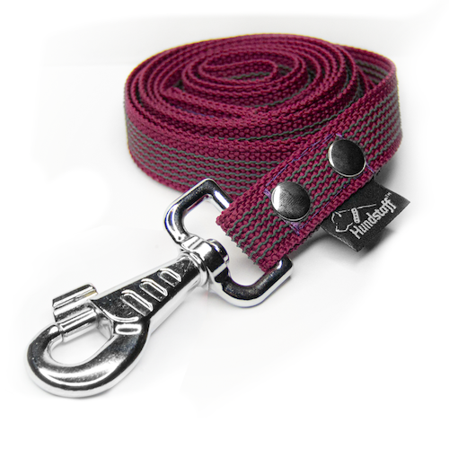 Anti-slip leash burgundy - Grip Burgundy