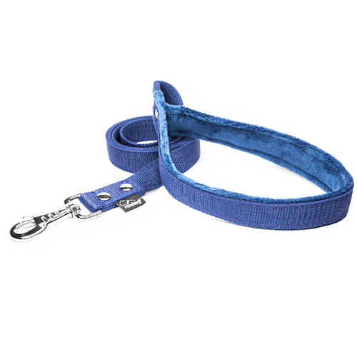Dark blue leash - with / without comfort handle