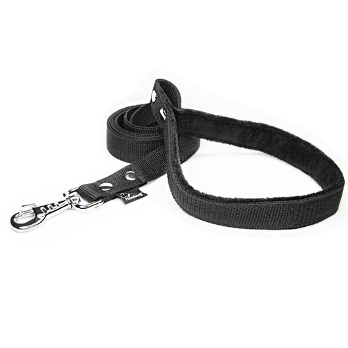 Black leash - with / without comfort handle
