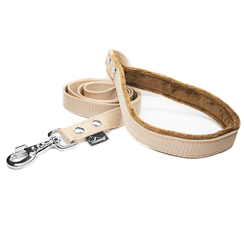 Beige leash - with / without comfort handle