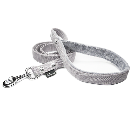 Gray leash - with / without comfort handle