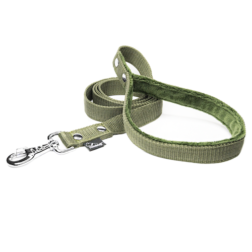 Khaki leash - with / without comfort handle