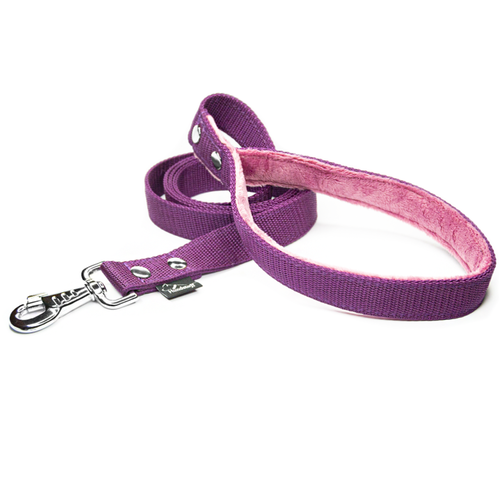 Plum leash - with / without comfort handle