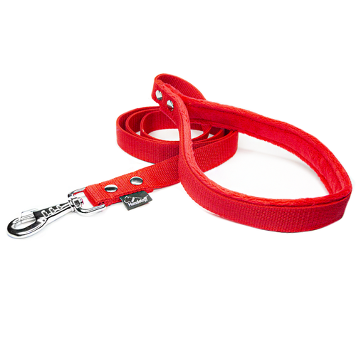 Red leash - with / without comfort handle