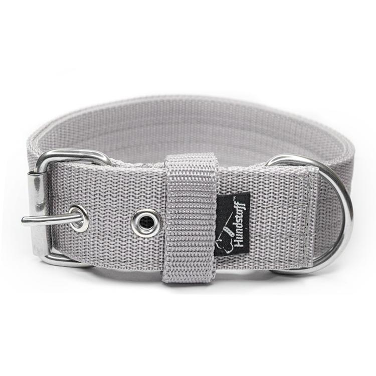 Active Grey brett grått hundhalsband