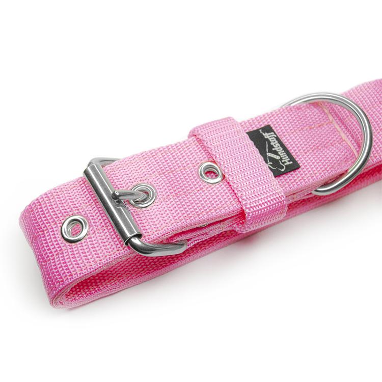 Active Baby Pink brett ljusrosa hundhalsband