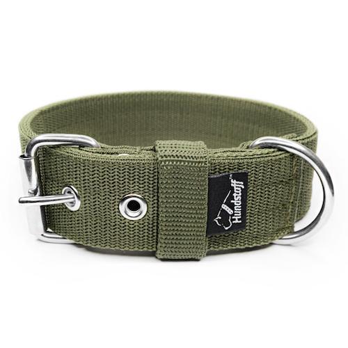 Active Khaki 4cm brett hundhalsband