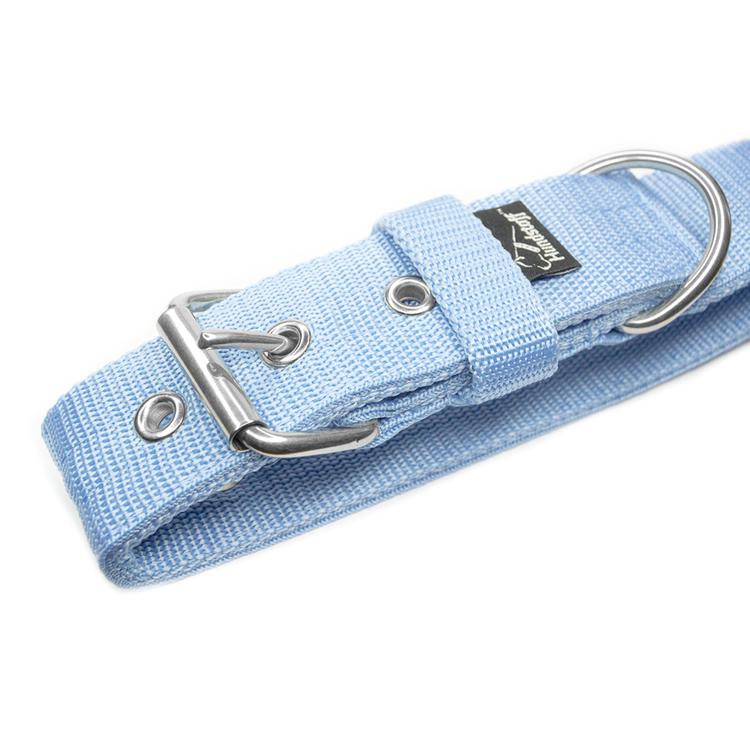 Active Baby Blue brett ljusblått hundhalsband