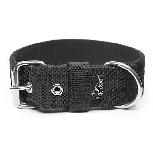 Active Black 4cm brett svart hundhalsband